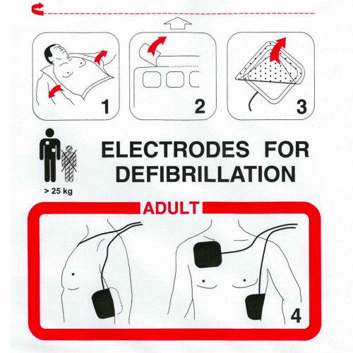 Electrodes Fred easy port Adulte