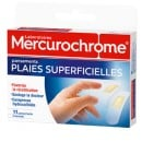 Pansements plaies superficieles Mercurochrome