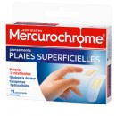 Pansements plaies superficielles Mercurochrome